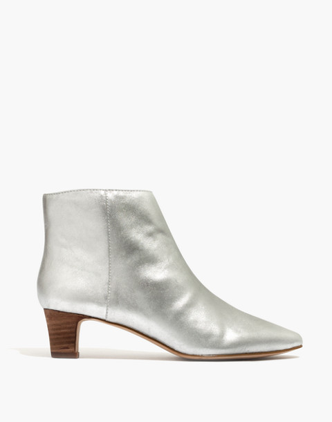 The Portia Boot in Metallic in silver image 3
