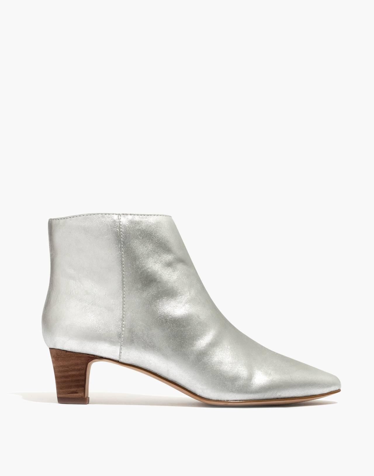 The Portia Boot in Metallic in silver image 3