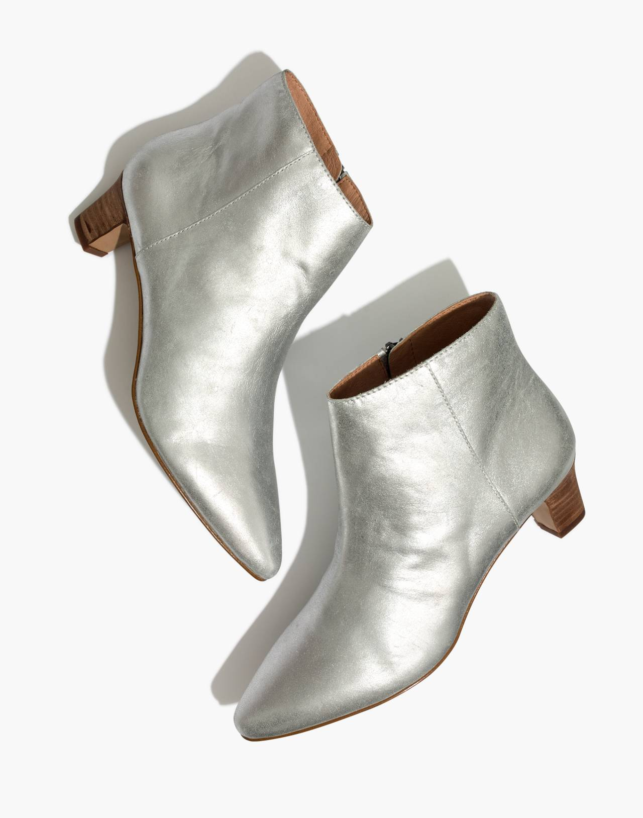 The Portia Boot in Metallic in silver image 1