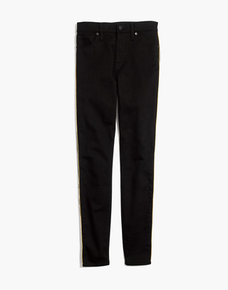 "Tall 10"" High-Rise Skinny Jeans: Gold Piping Edition in leander wash image 4"
