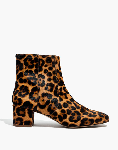 The Jada Boot in Leopard Calf Hair in truffle multi image 3