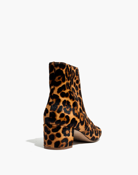 The Jada Boot in Leopard Calf Hair in truffle multi image 4