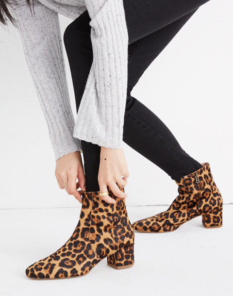 The Jada Boot in Leopard Calf Hair in truffle multi image 2