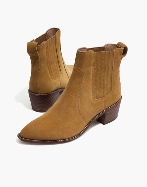 The Ramsey Chelsea Boot in Suede in acorn image 1