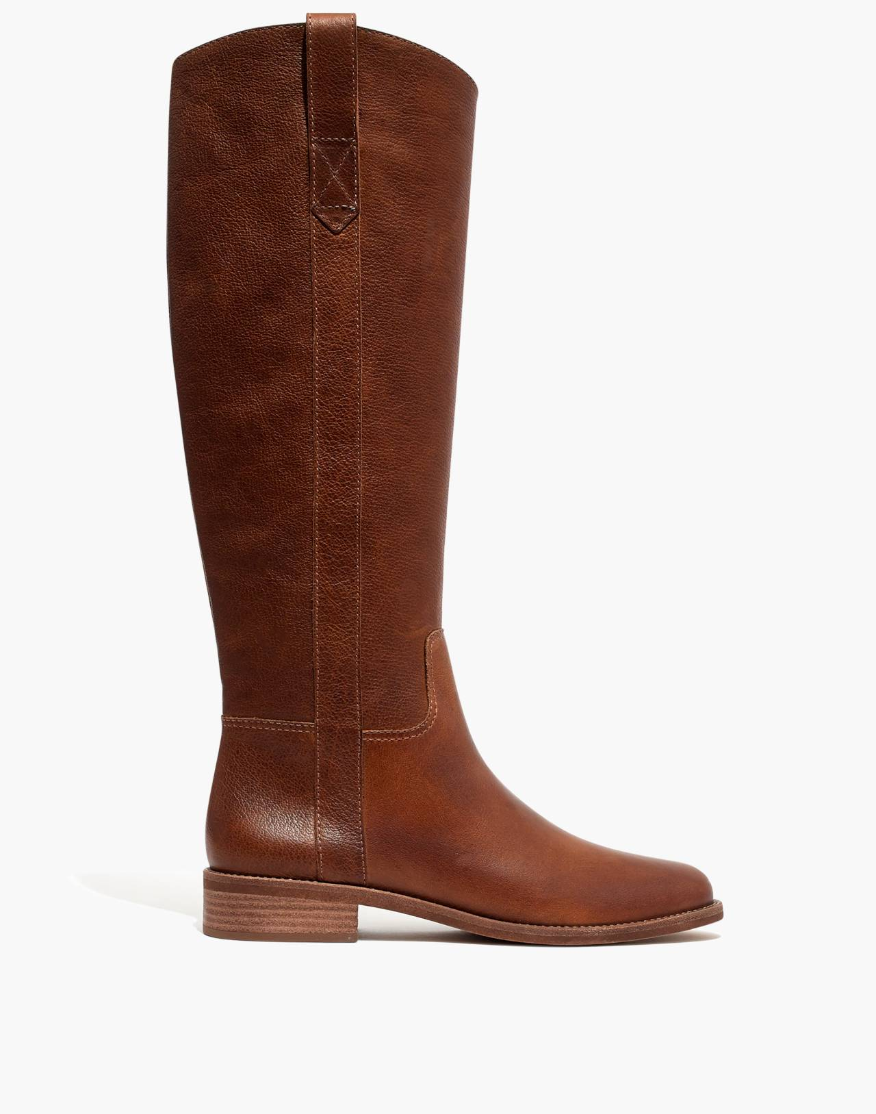 The Winslow Knee-High Boot with Extended Calf in english saddle image 2