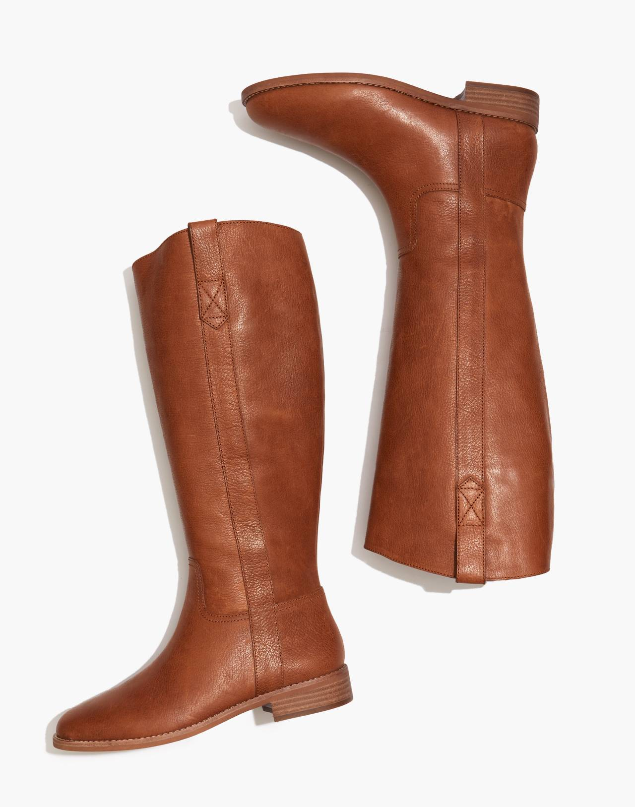 The Winslow Knee-High Boot with Extended Calf in english saddle image 1
