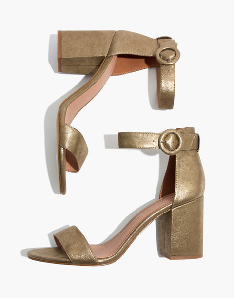 The Regina Ankle-Strap Sandal in Metallic in olive bronze image 1