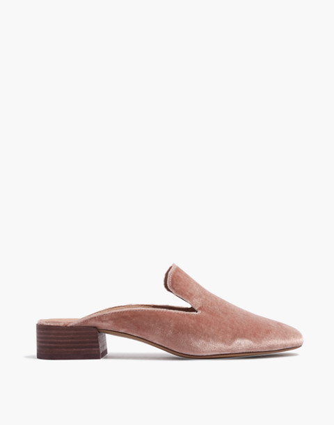 The Willa Loafer Mule in Velvet in mauve shadow image 2