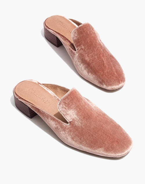 b13191f93ea The Willa Loafer Mule in Velvet in mauve shadow image 1
