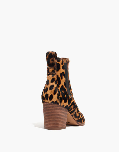 The Regan Boot in Leopard Calf Hair in truffle multi image 4