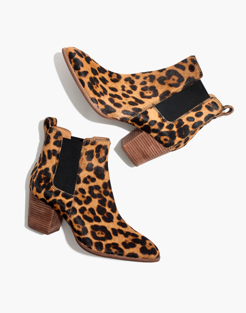 The Regan Boot in Leopard Calf Hair in truffle multi image 1