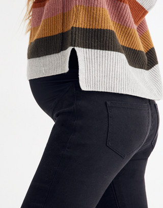 Maternity Over-the-Belly Skinny Jeans in Lunar Wash: Tencel® Edition in lunar wash image 2