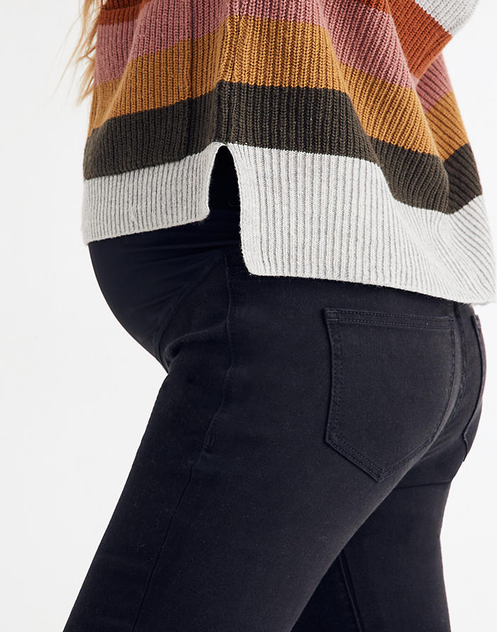 e7facb7cc91b9 Maternity Over-the-Belly Skinny Jeans in Lunar Wash: TENCEL™ Denim Edition