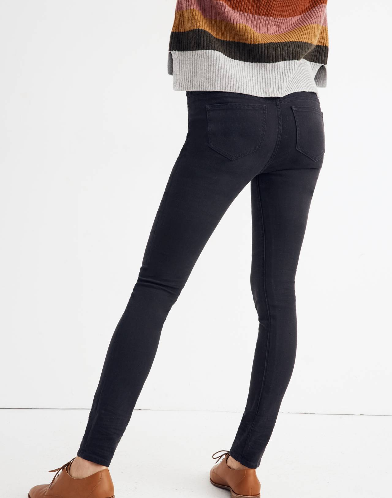 Maternity Over-the-Belly Skinny Jeans in Lunar Wash: Tencel™ Edition in lunar wash image 3