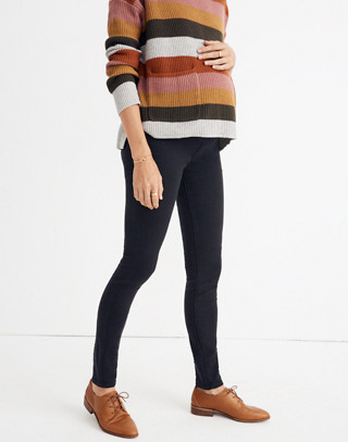 Maternity Over-the-Belly Skinny Jeans in Lunar Wash: Tencel® Edition in lunar wash image 1