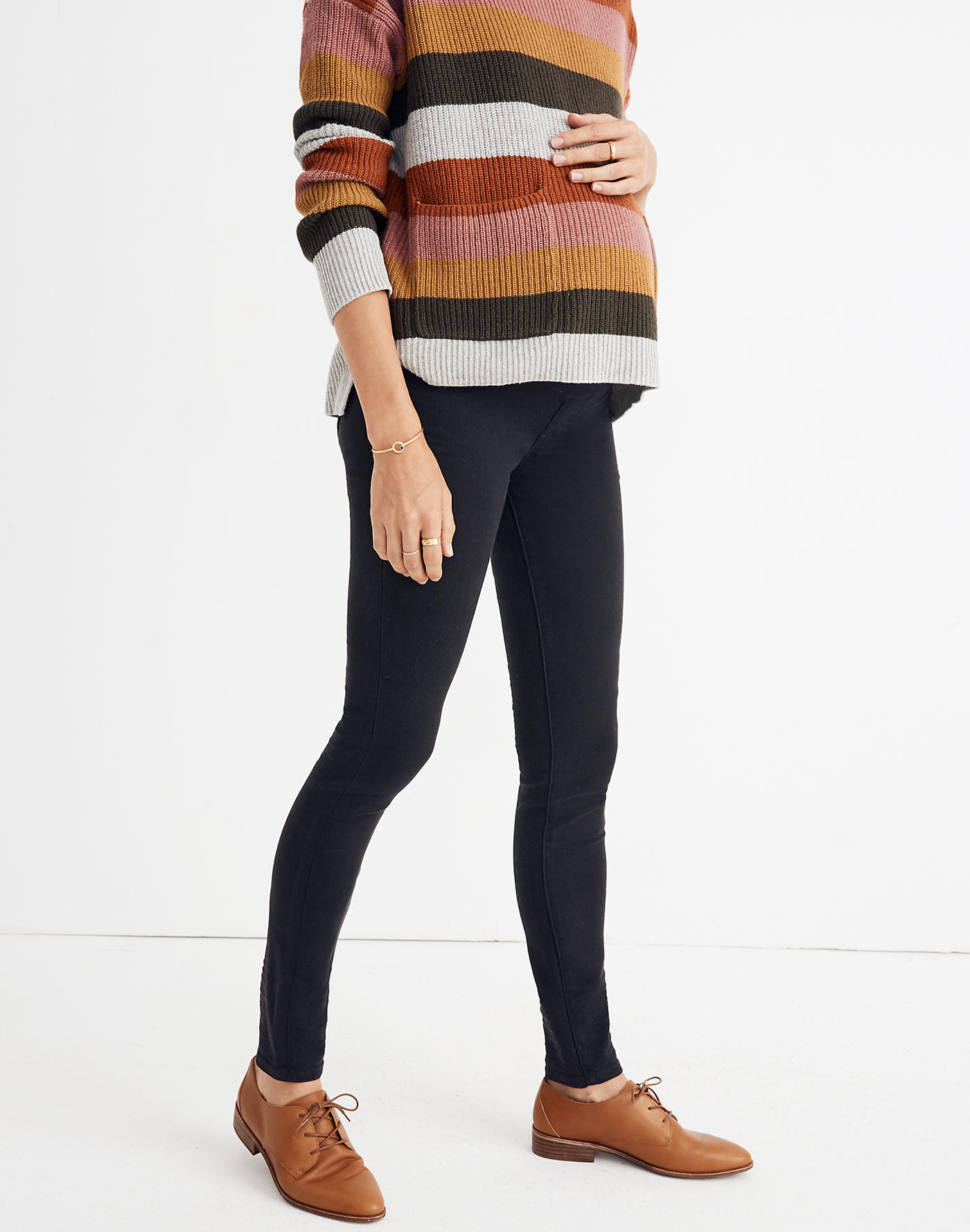Madewell Maternity Over-the-Belly Skinny Jeans in Lunar Wash: TENCEL Denim Edition
