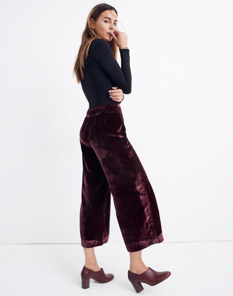 Velvet Huston Pull-On Crop Pants in pinot noir image 2