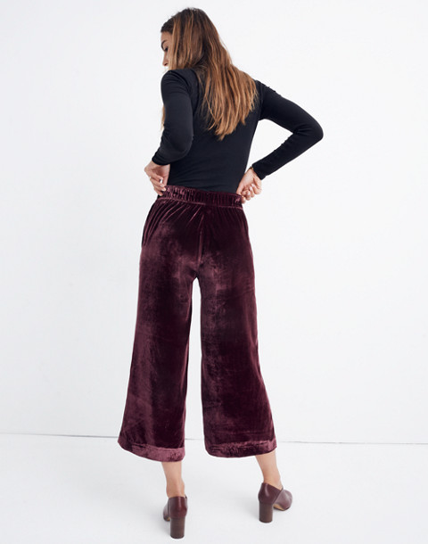 c7e09d3225 Velvet Huston Pull-On Crop Pants in pinot noir image 3