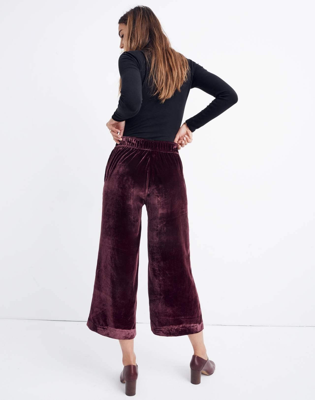 Velvet Huston Pull-On Crop Pants in pinot noir image 3
