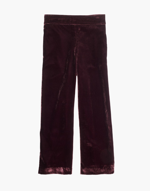 Velvet Huston Pull-On Crop Pants in pinot noir image 4