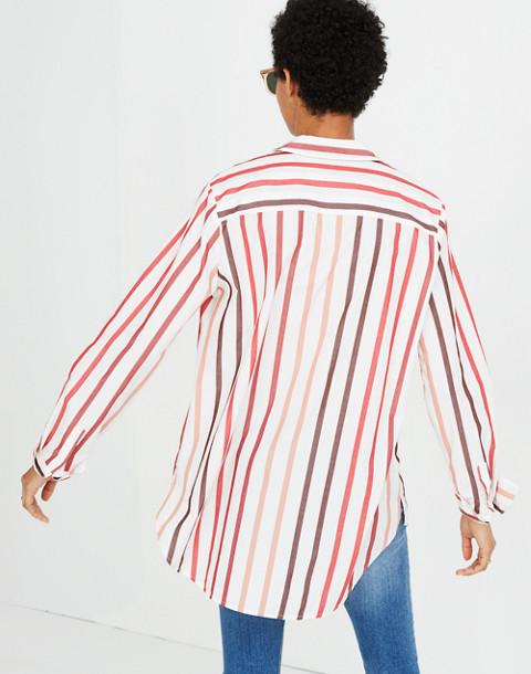 Oversized Ex-Boyfriend Shirt in Lorelei Stripe in cabernet image 3