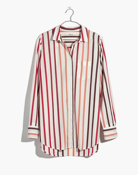 Oversized Ex-Boyfriend Shirt in Lorelei Stripe in cabernet image 4