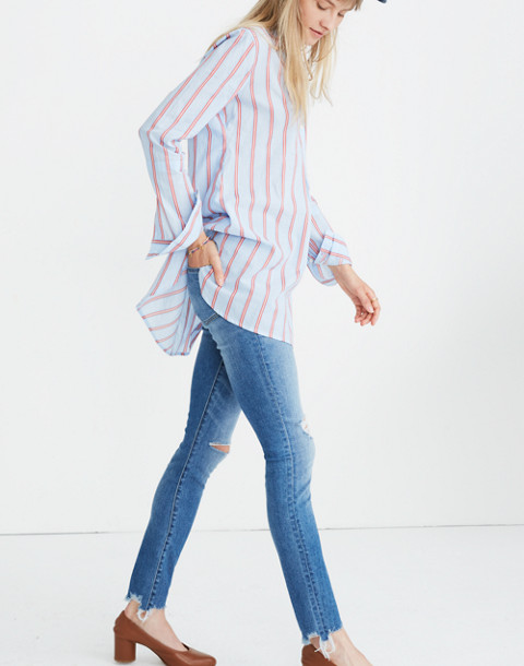 Wellspring Tunic Popover Shirt in Atwater Stripe in dark sea image 2