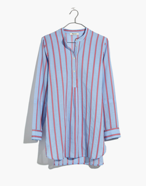 Wellspring Tunic Popover Shirt in Atwater Stripe in dark sea image 4