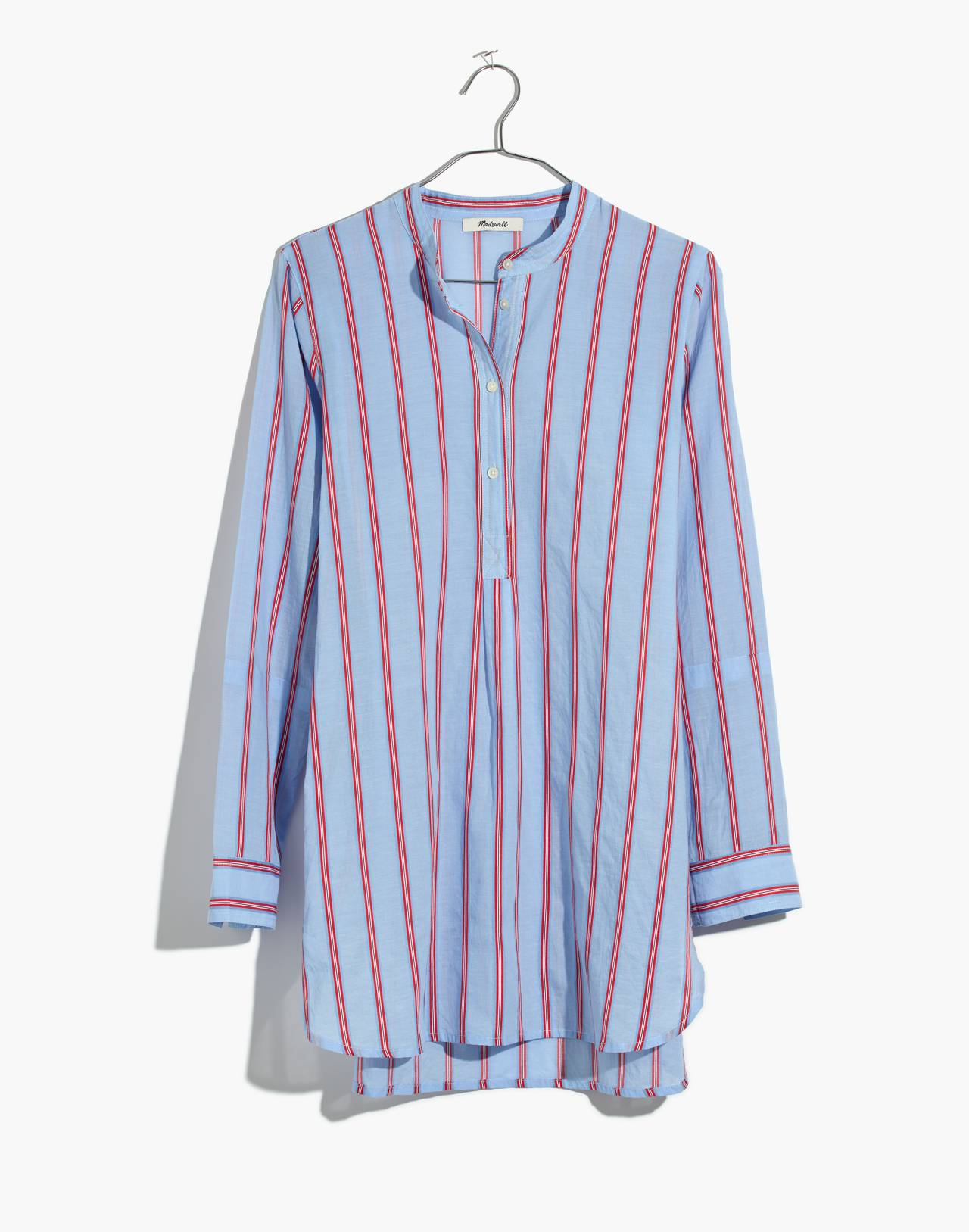 Wellspring Tunic Popover Shirt in Atwater Stripe in dark sea image 4