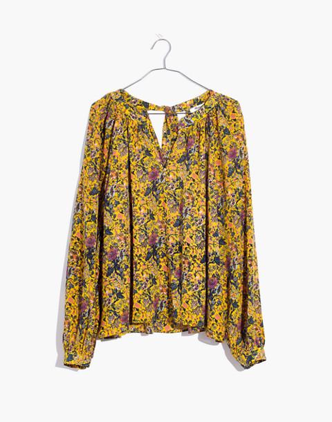 Madewell x Karen Walker® Silk Floral Gennaker Top in upholstery mystic yellow image 4