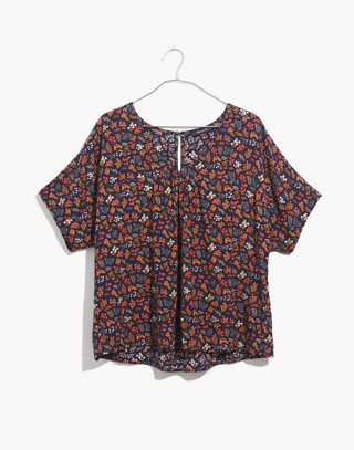 Rhyme Top in Garden Party in liberty blue night image 4
