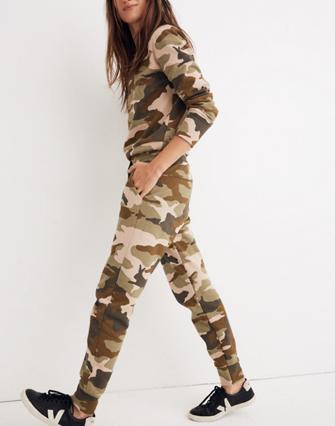 Cottontail Camo Sweatpants in bunny camo asparagus image 2