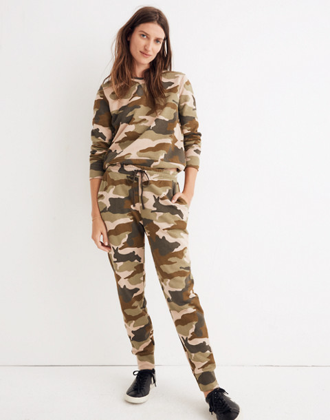 Cottontail Camo Sweatpants in bunny camo asparagus image 1