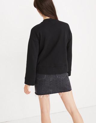 Ciao For Now Mockneck Sweatshirt in true black image 3