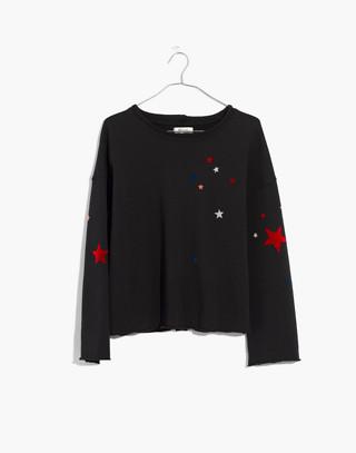 Starry Night Sweatshirt in classic black image 4