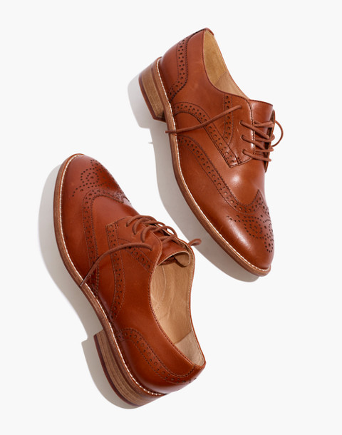 The Juliette Oxford in dark chestnut image 1