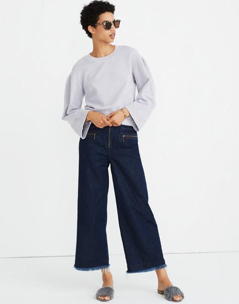 Madewell x Karen Walker® Garment-Dyed Sweatshirt in violet tint image 2