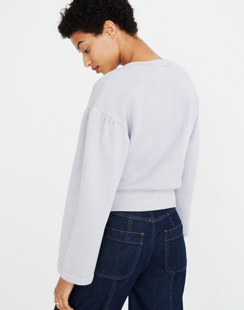 Madewell x Karen Walker® Garment-Dyed Sweatshirt in violet tint image 3