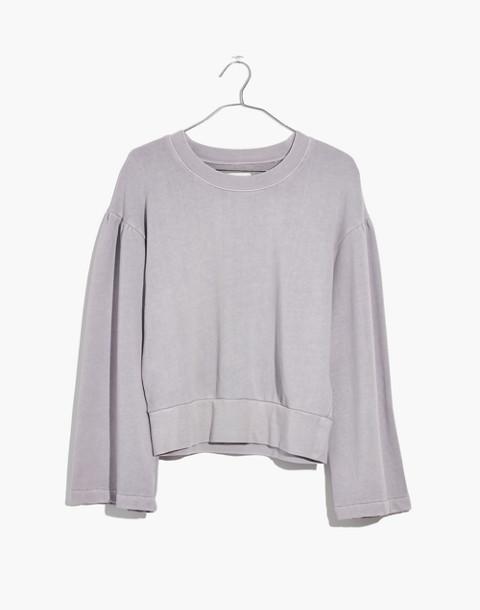 Madewell x Karen Walker® Garment-Dyed Sweatshirt in violet tint image 4
