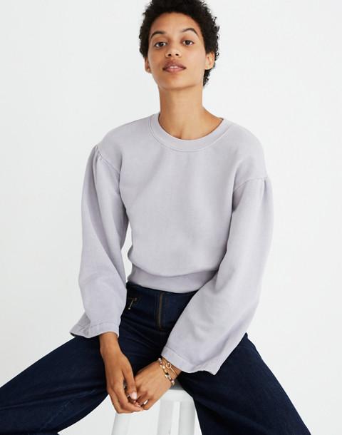Madewell x Karen Walker® Garment-Dyed Sweatshirt in violet tint image 1