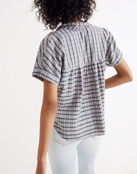Hilltop Shirt in Precioso Plaid in faded indigo image 3
