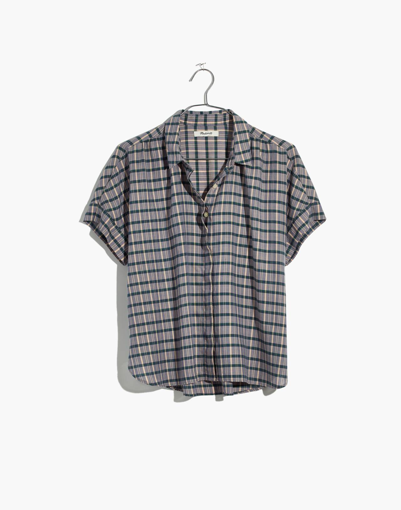 Hilltop Shirt in Precioso Plaid in faded indigo image 4