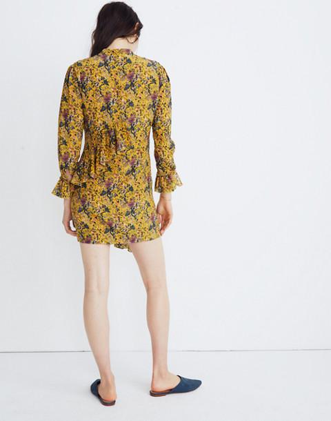 Madewell x Karen Walker® Silk Floral Loretta Dress in upholstery mystic yellow image 2