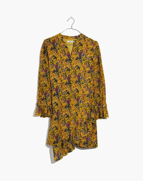 Madewell x Karen Walker® Silk Floral Loretta Dress in upholstery mystic yellow image 4