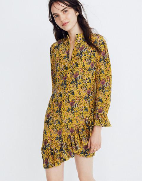 Madewell x Karen Walker® Silk Floral Loretta Dress in upholstery mystic yellow image 1