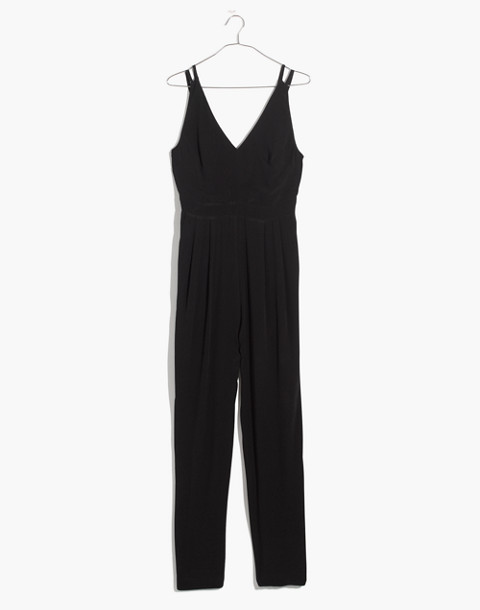 V-Neck Jumpsuit in true black image 4
