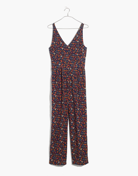V-Neck Jumpsuit in Garden Party in liberty blue night image 4