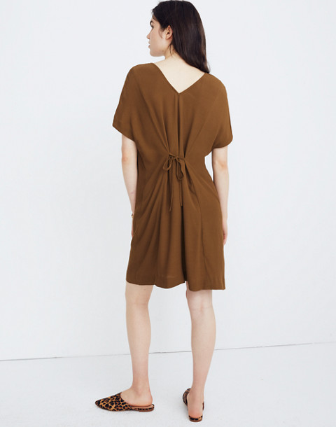 Downtown Tie-Back Dress in weathered olive image 3