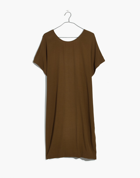Downtown Tie-Back Dress in weathered olive image 4