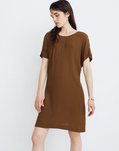 Downtown Tie-Back Dress in weathered olive image 1